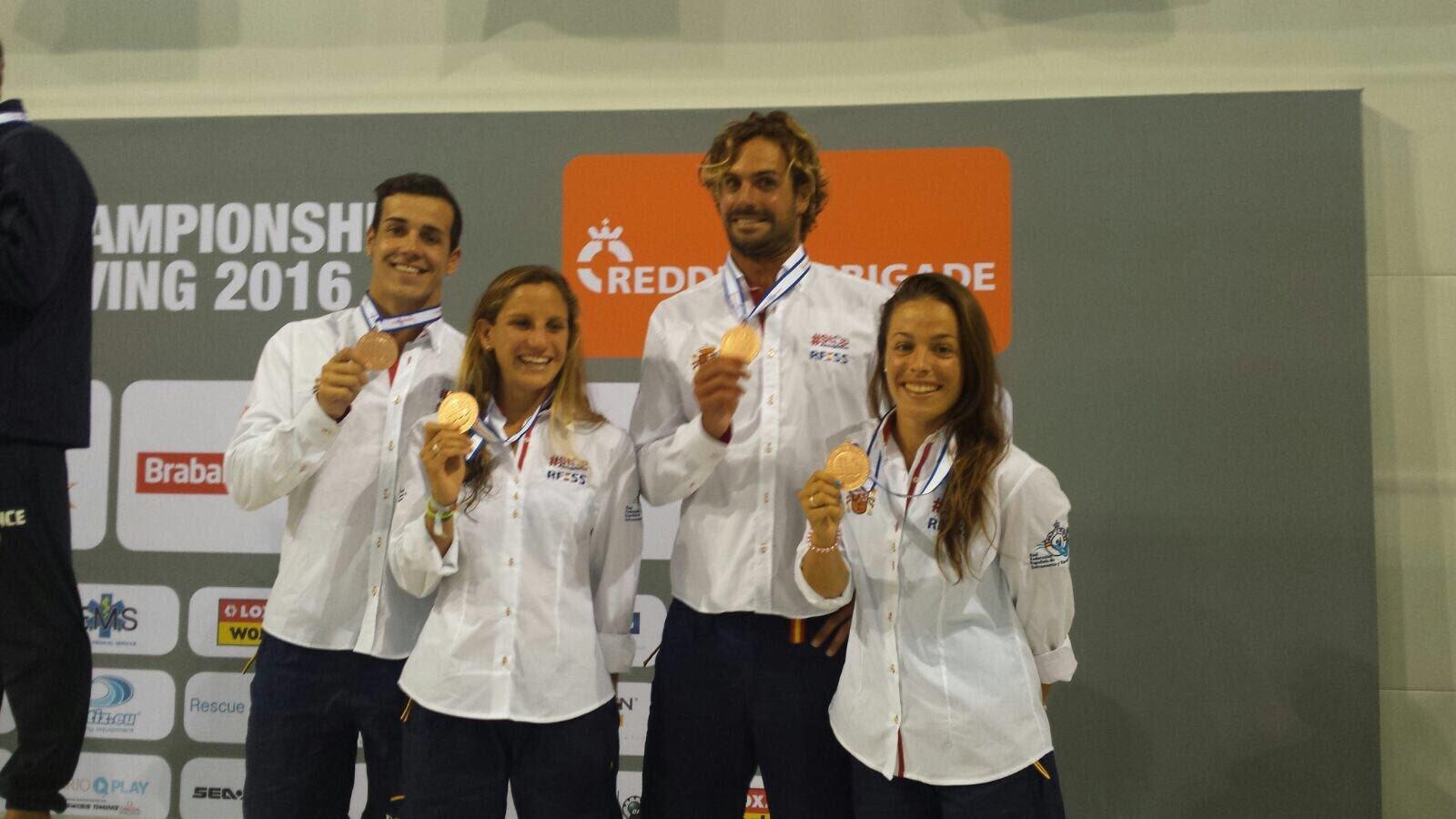 Lorena Morón, Carlos Alonso, Josep Bas e Itziar Abascal, bronce en...