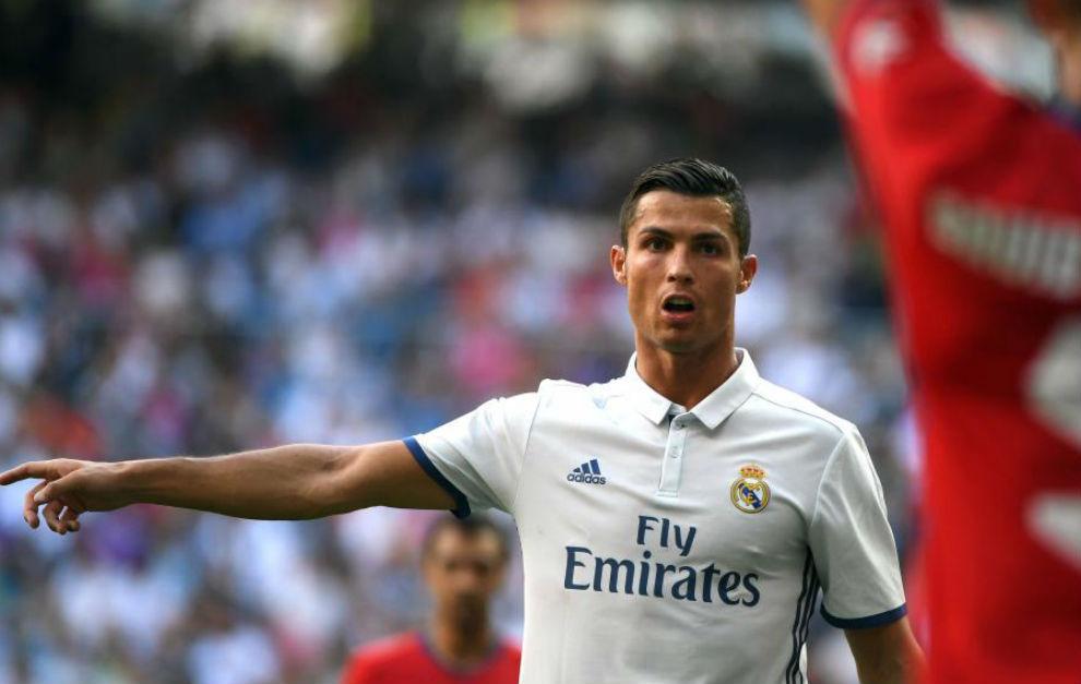 Cristiano, durante el partido contra Osasuna