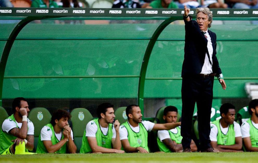 El entrenador del Sporting de Portugal en el último partido de la...