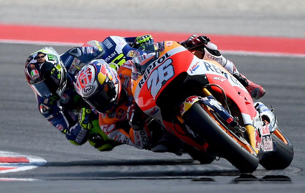 Pedrosa renace y bate a Rossi, con Lorenzo tercero y Márquez cuarto
