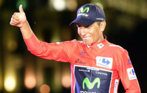 Quintana, en el podio.