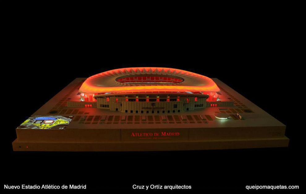 Una de las primeras maquetas y recreaciones del nuevo estadio...