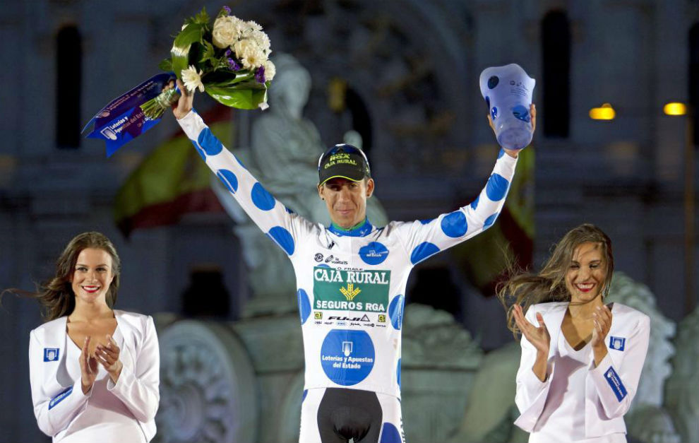 Omar Fraile en el podio de Madrid