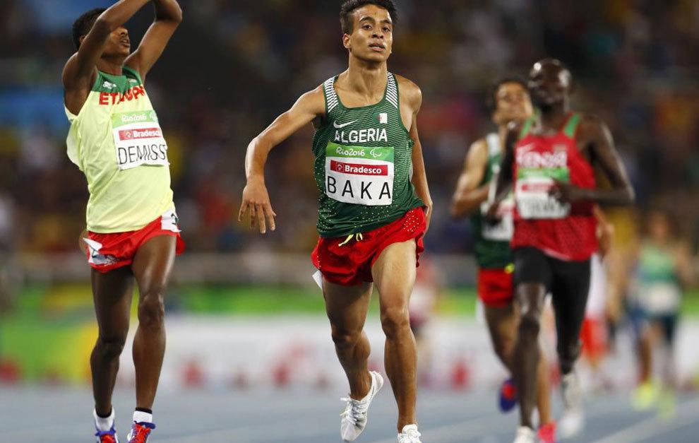 El corredor argelino Abdellatif Baka en la final paralímpica de 1.500...