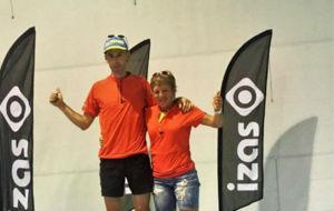 Ion Azpiroz y Sara Codina, ganadores del Circuito.
