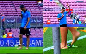 Im�genes de Daniel Torres en el Camp Nou.