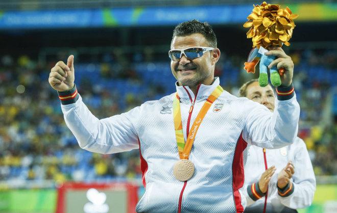 David Casinos, feliz con su bronce en disco en los Juegos de Río