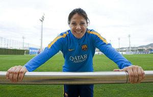 Ruth Garc�a posa para MARCA en la Ciudad Deportiva Joan Gamper.