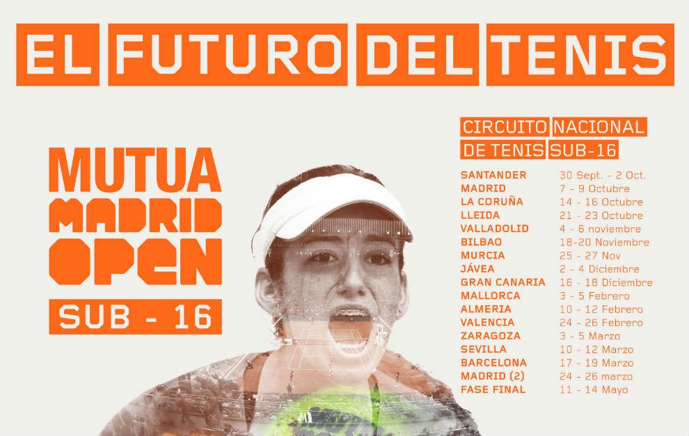 Cartel promocional del circuito Mutua Madrid Open Sub'16.