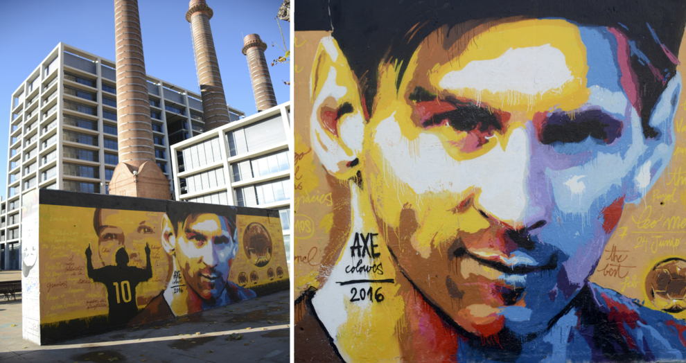 Mural Homenaje A Messi Del Estudio Axe Colours En Marca Com