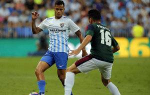 El venezolano durante un partido con el M�laga