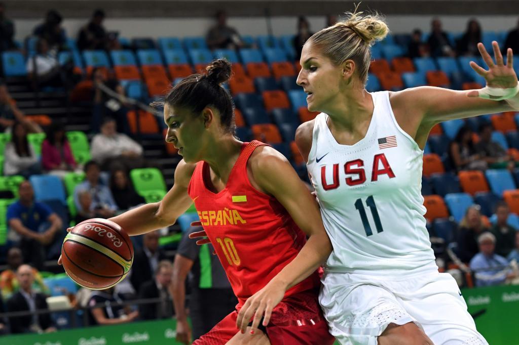 Elena Delle Donne en la final olímpica contra España