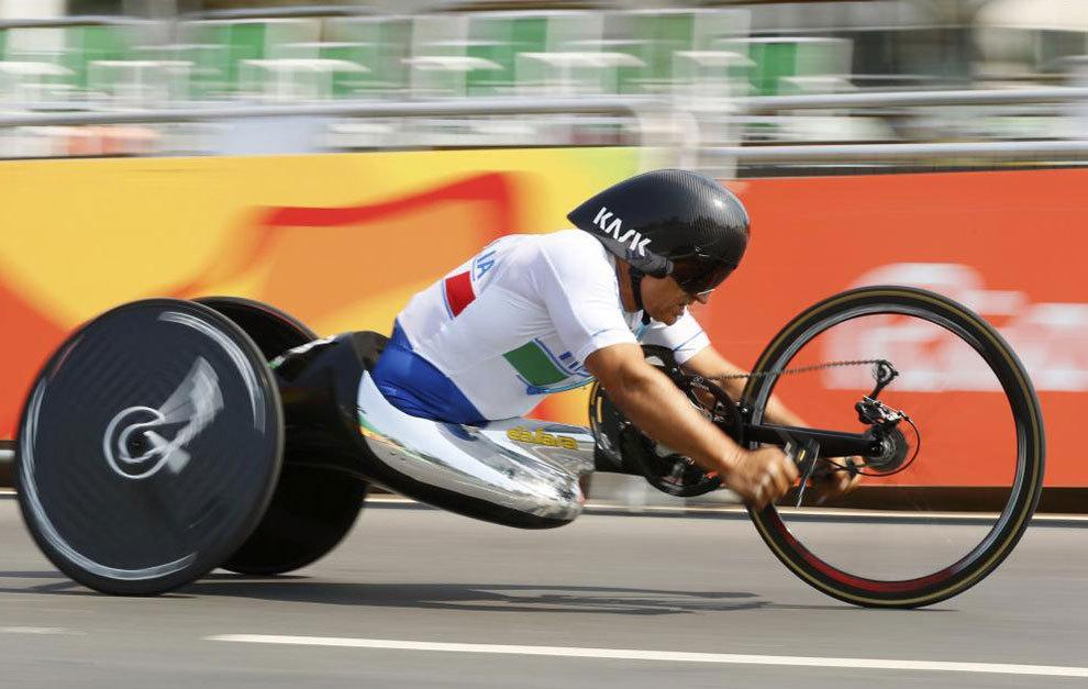 Alex Zanardi en el circuito de Pontal de Río de Janeiro en la...