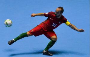 Ricardinho, durante un partido con Portugal esta temporada.