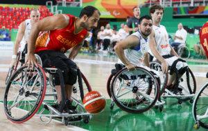 Alejandro Zarzuela durante un partido de la fase de grupos de los...