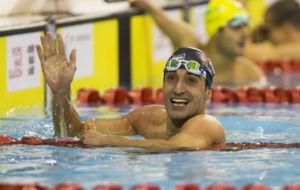 Miguel Luque consiguió la medalla de plata en la final de 50 metros...