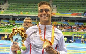 Israel Oliver, feliz con su medalla de oro en Río