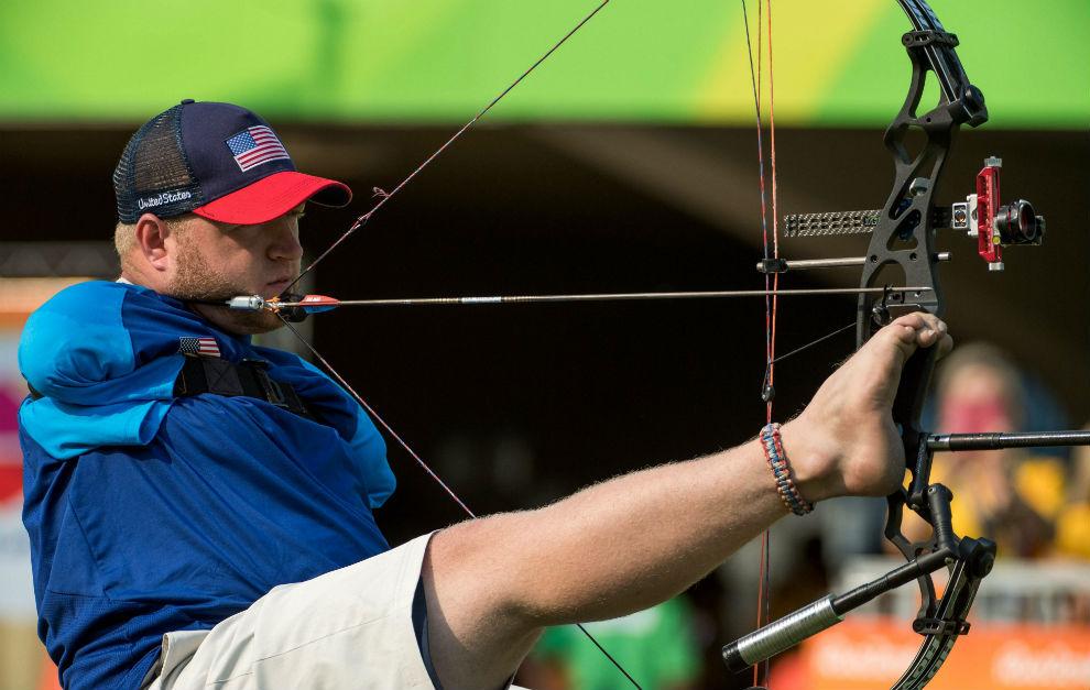 Matt Stutzman, durante los Juegos Paralímpicos de Río.