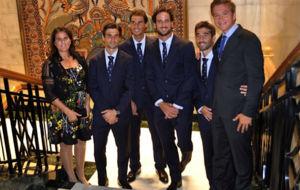 Conchita junto al resto del equipo de Copa Davis