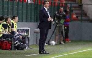 Berizzo durante el partido frente al Standard.