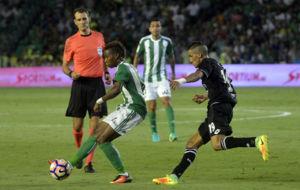 Musonda controla un bal�n en el duelo ante el Deportivo.