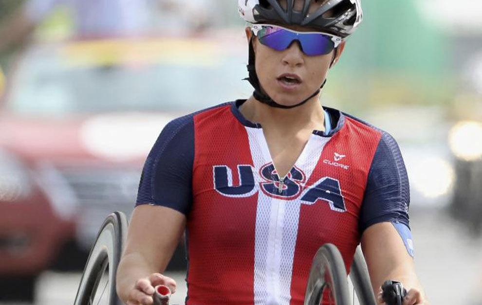 Oksana Masters compitiendo en los Juegos de Río