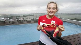 Mireia Belmone, durante los Juegos de Río