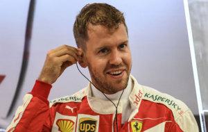 Vettel, durante la segunda sesi�n de libres en Singapur
