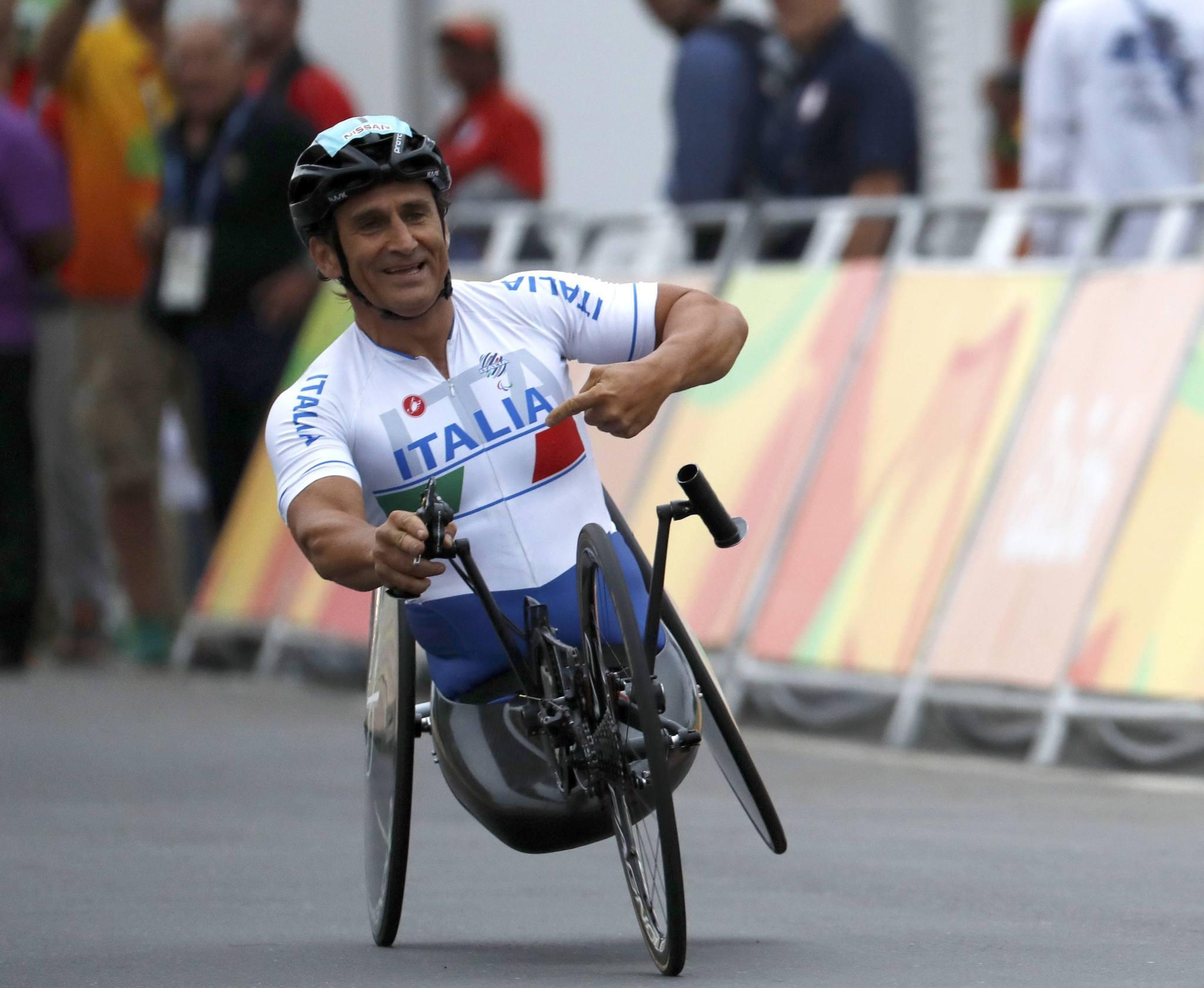 Zanardi, compitiendo en los Juegos Paralímpicos de Rio