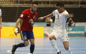 Partido del Mundial de Futsal entre España e Irán