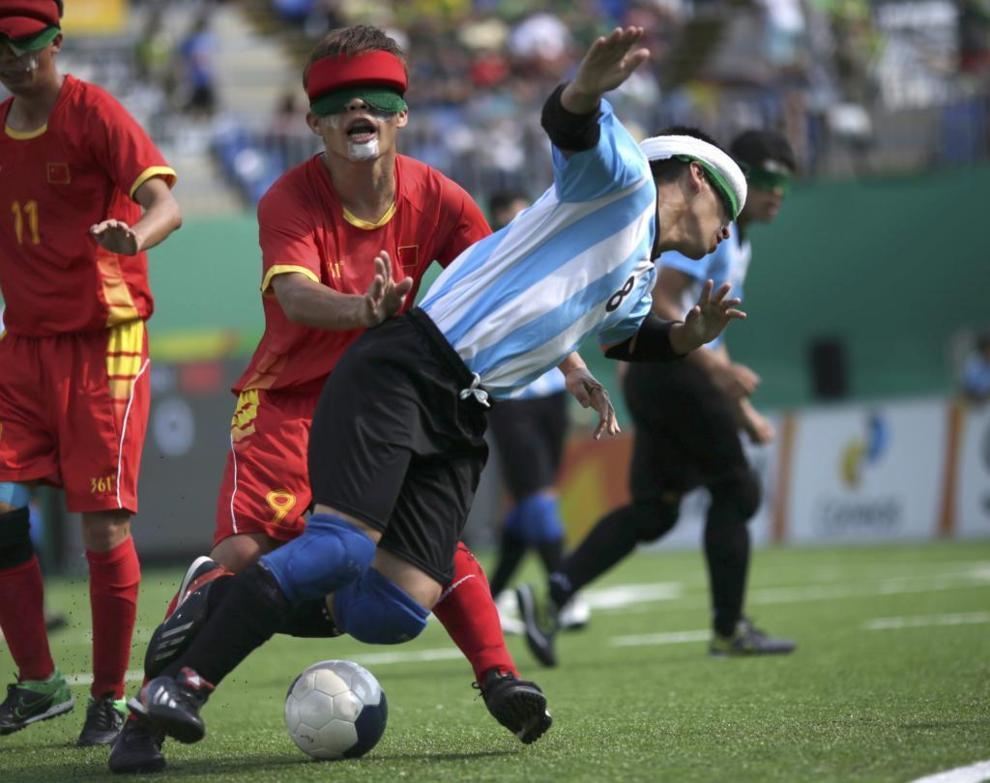 Final de fútbol entre China y Argentina