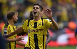 Pulisic celebra un gol ante el Darmstadt