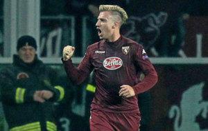 Maxi L�pez, en un partido con el Torino.