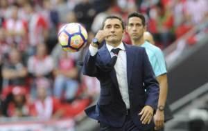 Valverde durante el partido ante el Valencia.