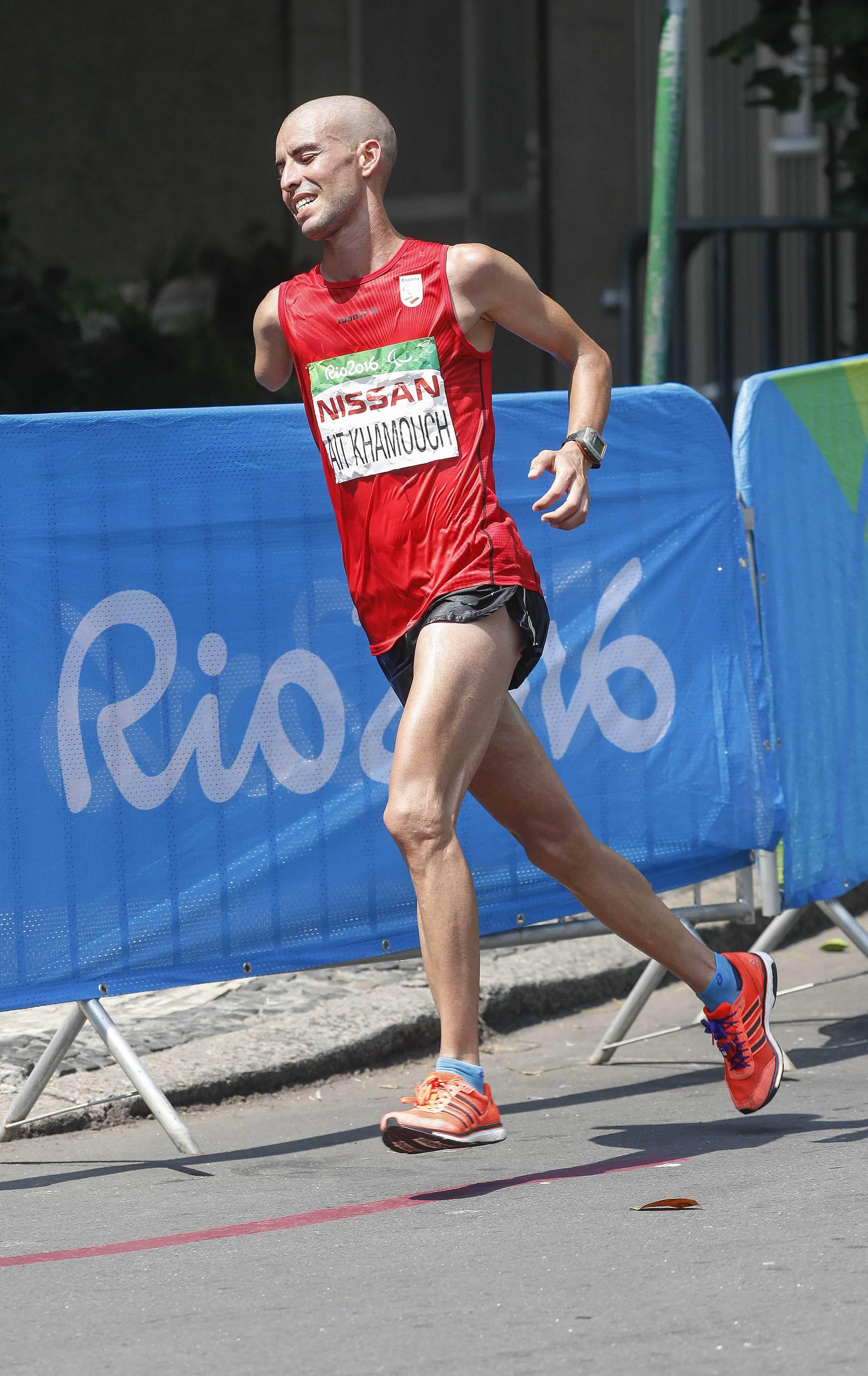 Abderrahman Ait en el maratón de Río