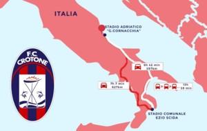 El viaje que hace el Crotone cada dos semanas