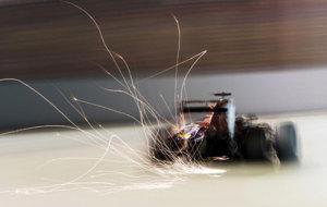 Una imagen espectacular del Toro Rosso de Carlos Sainz.
