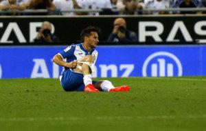 Piatti, lesionado ante el Real Madrid.