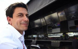 Wolff, durante el GP de B�lgica