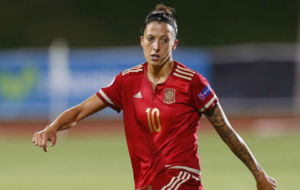 Jenni Hermoso durante un partido de la selecci�n en Las Rozas.