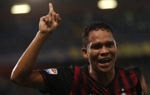 Bacca celebra el gol ante la Sampdoria