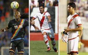 Manucho, Javi Guerra y Miku son los delanteros del Rayo Vallecano.