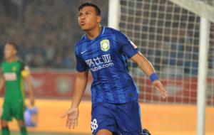 El delantero colombiano se ha adaptado muy r�pido al Jiangsu Suning...