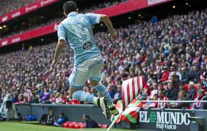 Orellana celebra un gol ante el Athletic.