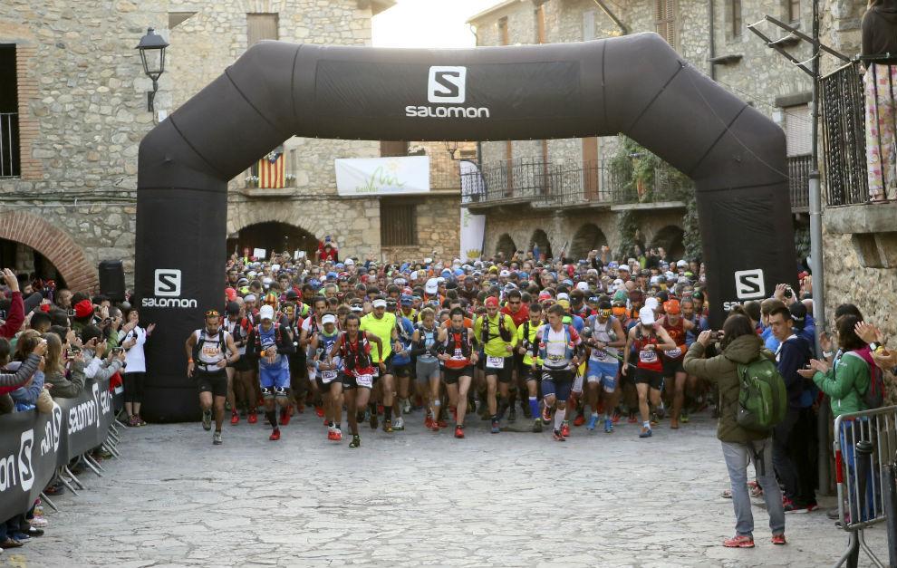 Salida del maratón del Ultra Pirineu en 2015.