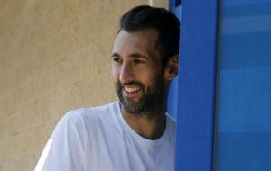 Diego L�pez, en las instalaciones de Sant Adri�