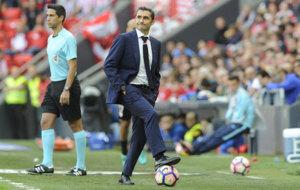 Valverde durante el partido frente al Valencia.