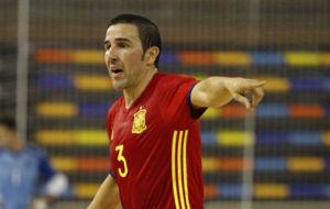 José Ruiz, durante un partido con la selección española.