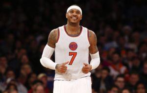 Carmelo Anthony jugando con los Knicks