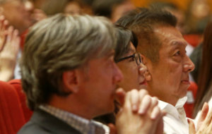 Peter Lim, Lay Hoon y Garc�a Pitarch en un acto en Singapur.